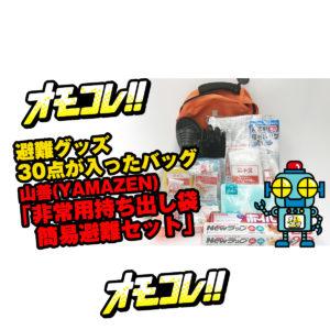 避難グッズ30点が入ったバッグ「山善(YAMAZEN) 非常用持ち出し袋 簡易避難セット」